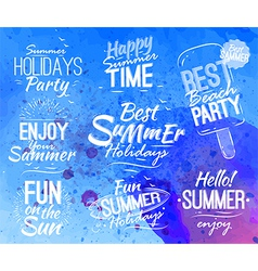 Summer set lettering vector