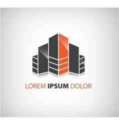 Office builing icon logo isolated vector