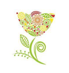 Beautiful pattern flower vector