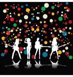 Girls band vector