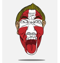 Football fan from denmark vector