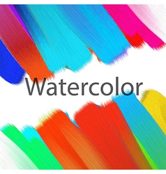 Abstract acrylic painted background vector