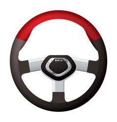 Sports steering wheel vector
