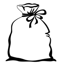 Bag empty pictogram vector