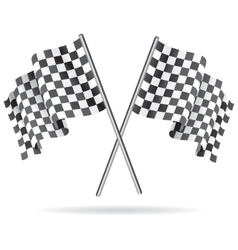 Waving checkered racing flag vector