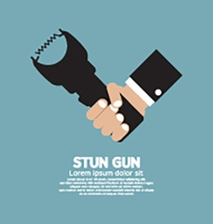 Stun gun a personal security weapon vector