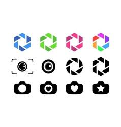 Set of camera lens vector