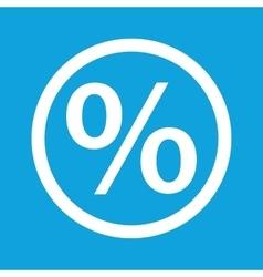 Percent sign icon vector