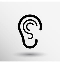 Ear icon listen hear deaf human sign vector