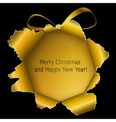 Abstract golden xmas ball vector