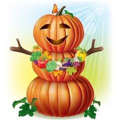 Fun pumpkin and harvest vector