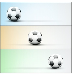 Set of light sports banner for a website to soccer vector