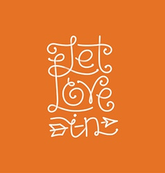Let love in hand lettering vector
