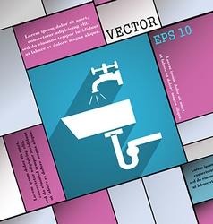 Washbasin icon symbol flat modern web design with vector