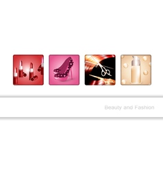 Beauty and fashion templates vector