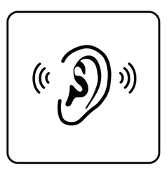 Ear sign - silhouette vector