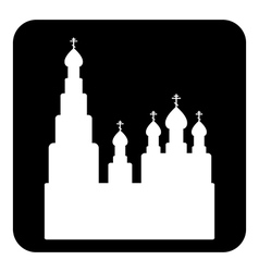 Orthodox church sign button vector