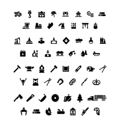 Set icons of industry vector