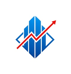 Graph arrow business finance logo vector