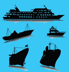 Boats silhouette vector