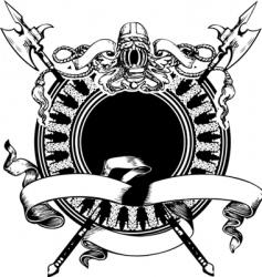 Heraldry composition vector