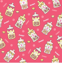 Jars of sweets seamless vector