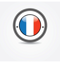 Label with france flag in rubber stamp vector