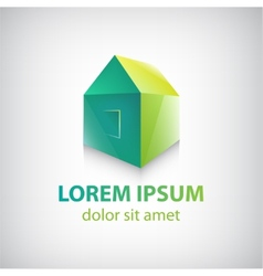 Green house icon logo isolated vector