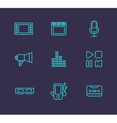Media or multimedia icon set vector