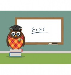 Professor owl vector