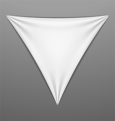 White stretched triangular shape with folds vector