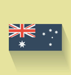 Flat flag of australia vector
