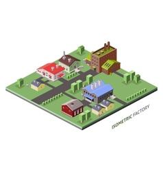 Isometric factory buildings vector