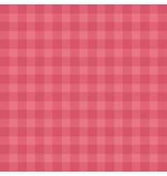 Flat easy tilable red gingham repeat pattern print vector