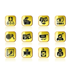 Management and office icons vector