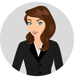 Businesswoman close-up vector