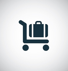 Trolley luggage icon vector