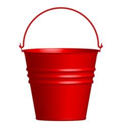 Red bucket vector