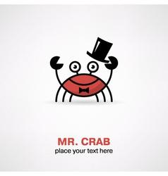 Cute cartoon crab vector