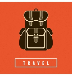 Backpack icon in flat style vector