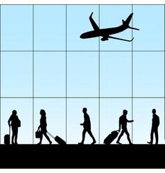 People in airport vector