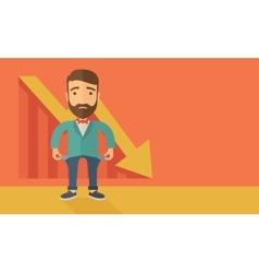 Failed businessman vector