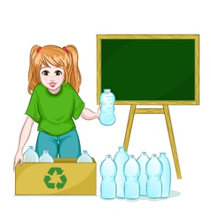 Recycling bottles vector