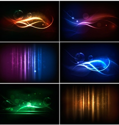 Neon background vector