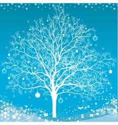 Winter christmas tree vector