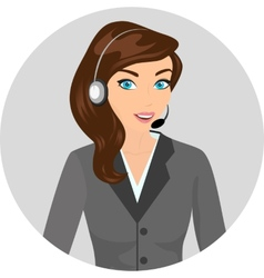 Female call centre operator - isolated vector