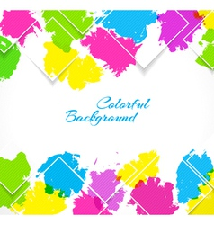 Abstract background with colorful splash vector