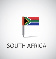 South africa flag pin vector