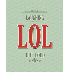 Laughing out loud vector