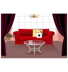 Home couch interior vector